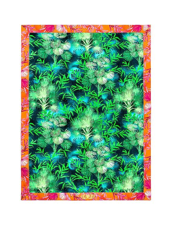 Jungle Beach Towel in Green Print