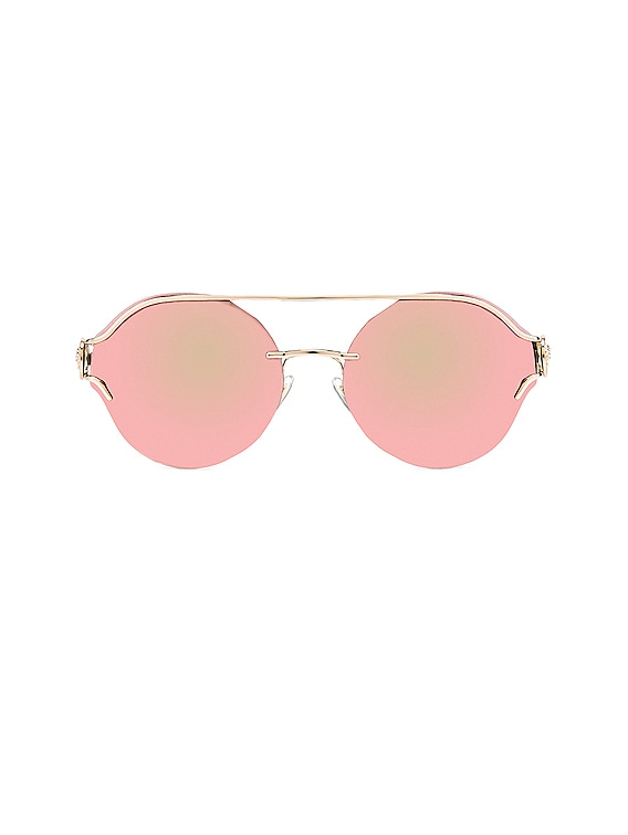 Round Sunglasses in Pink & Gold