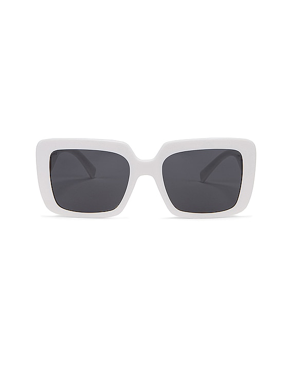 Medusa Jewel Sunglasses in White
