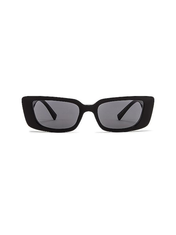 Virtus Narrow Sunglasses in Black