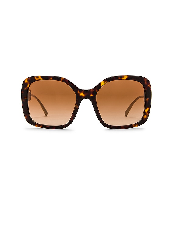 Medusa Square Sunglasses in Havana & Gold