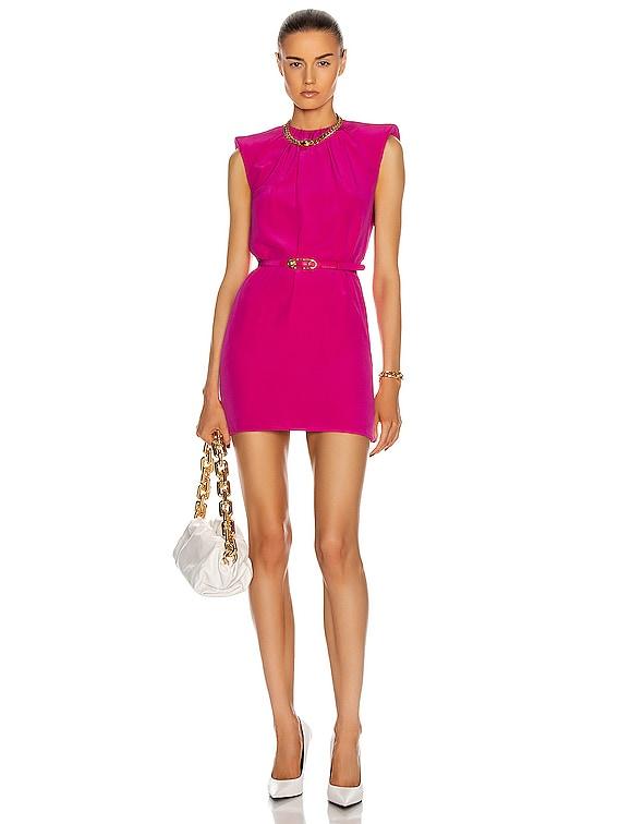 Sleeveless Mini Dress in Fuchsia