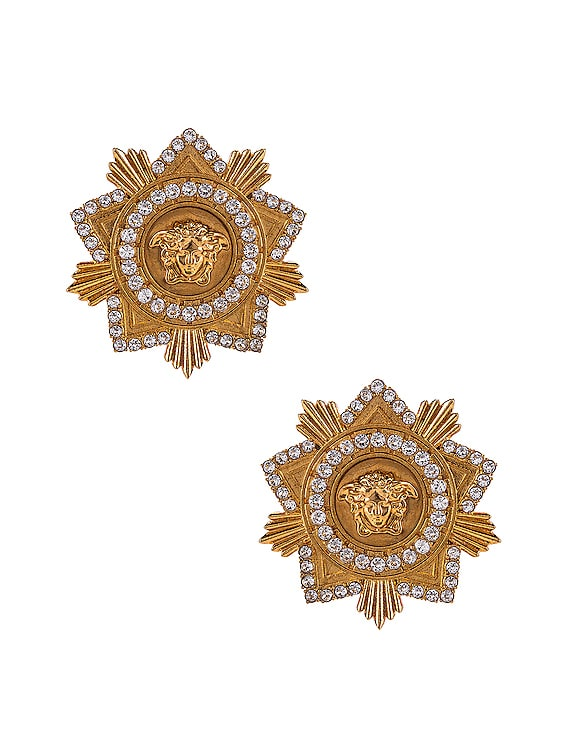 Starburst Earrings in Crystal & Gold
