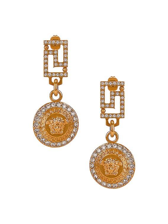 Medusa Crystal Earrings in Gold