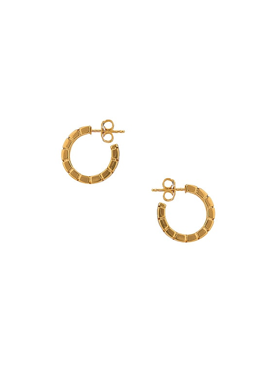 Logo Hoop Earrings in Oro
