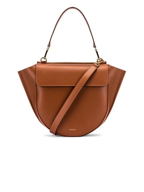 Medium Hortensia Leather Bag in Tan