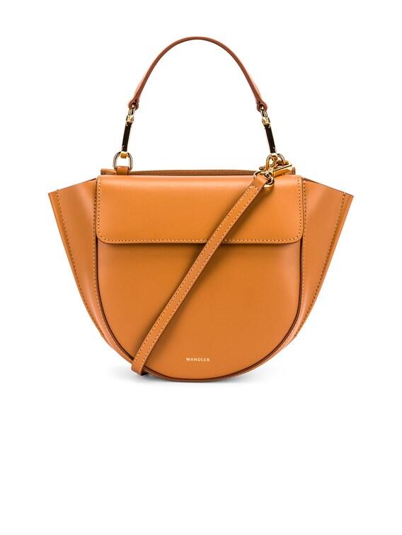 Mini Hortensia Leather Bag in Caramel