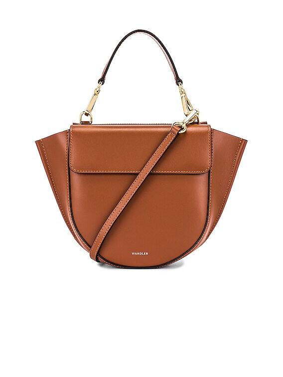 Mini Hortensia Leather Bag in Tan