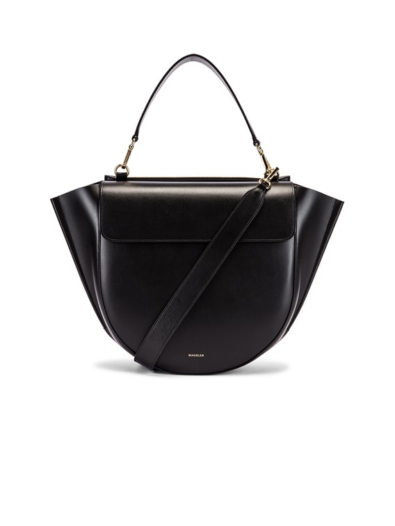 Big Hortensia Leather Bag in Black