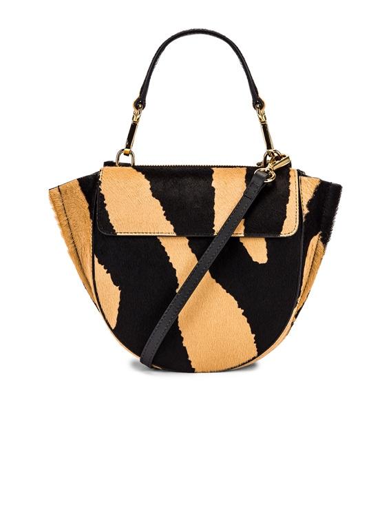 Mini Hortensia Leather Bag in Beige Zebra