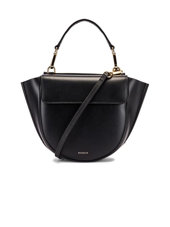 Mini Hortensia Leather Bag in Black