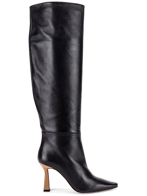 Lina Long Boots in Black & Khaki