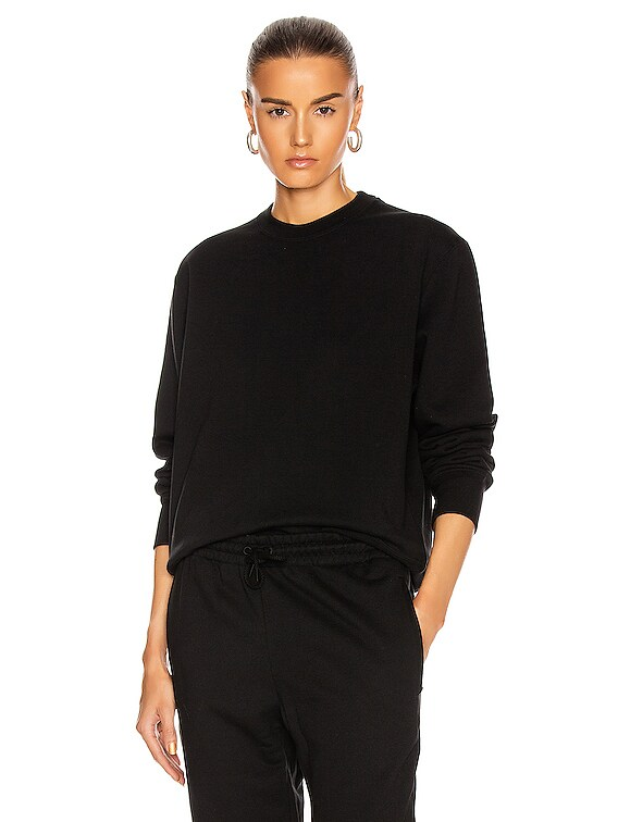 Track Sweat Top in Black