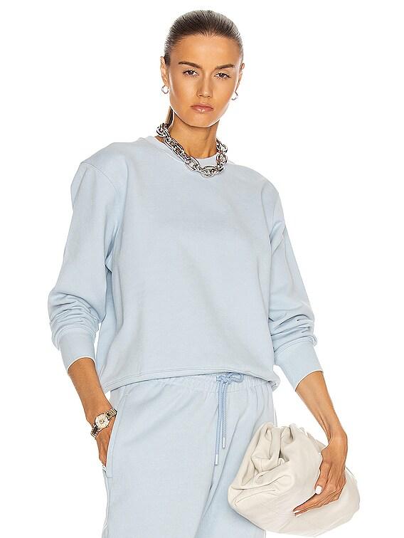 Track Sweatshirt in Light Blue