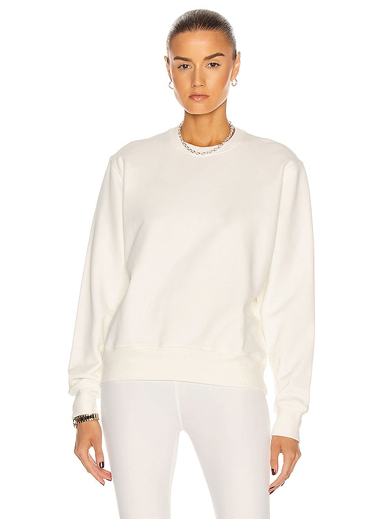 Track Sweatshirt in White
