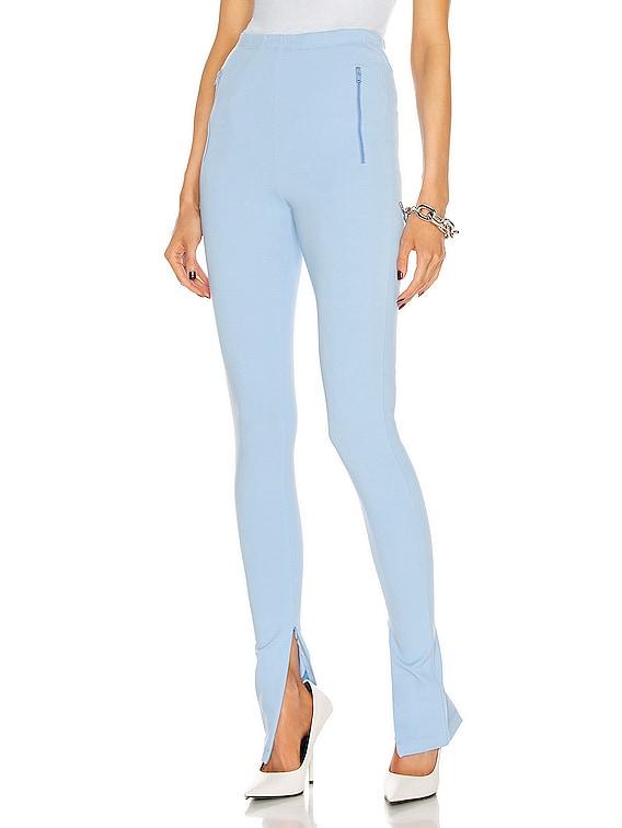 Side Split Legging in Mid Blue