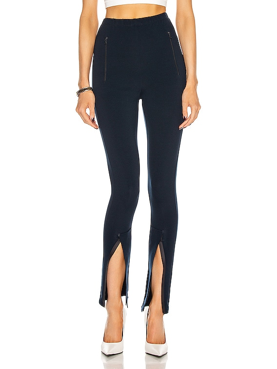 Front Split Legging in Navy