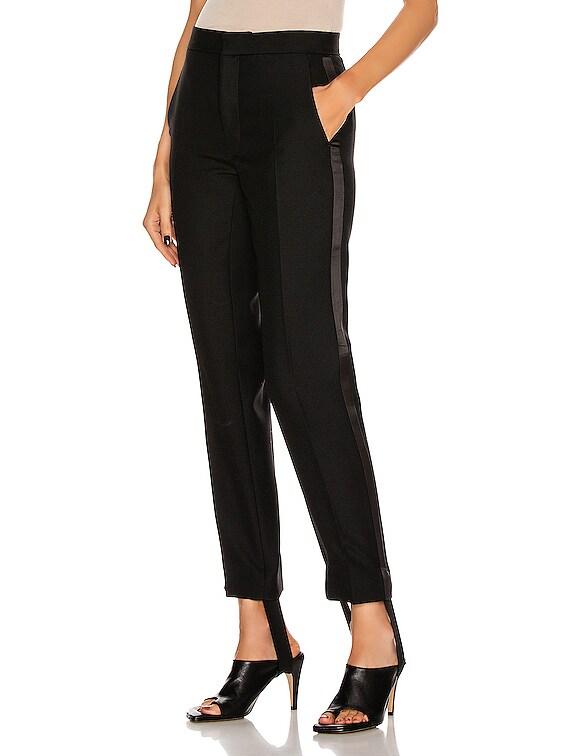 Tuxedo Trouser Pant in Black