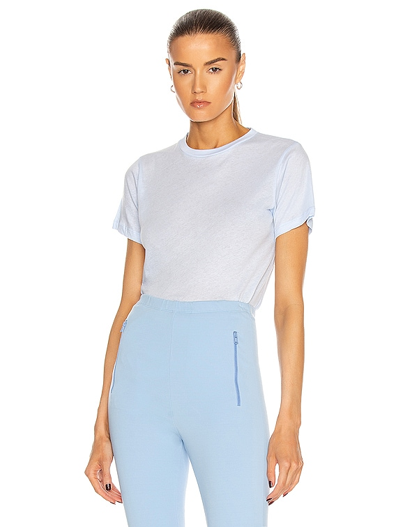 Fitted T-Shirt in Light Blue