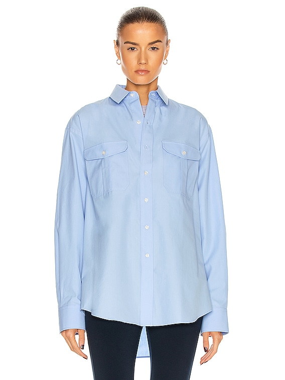 Oversize Shirt in Blue
