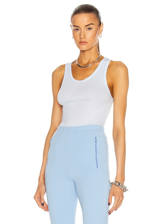Ribbed Tank Top in Light Blue