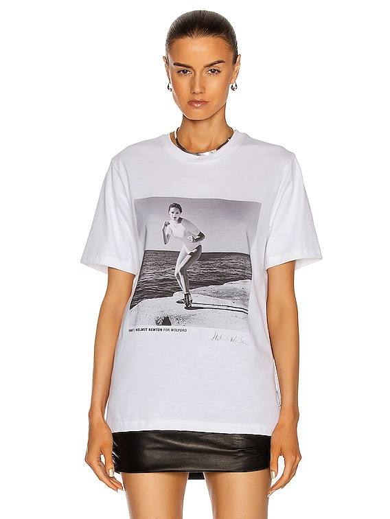 x Helmut Newton T-Shirt in Stone Grey