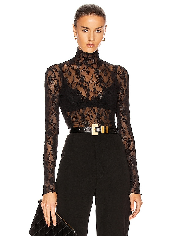 Katharina Pullover Top in Black