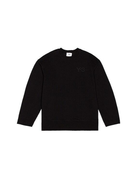 Chest Logo Crew Sweatshirt in Black