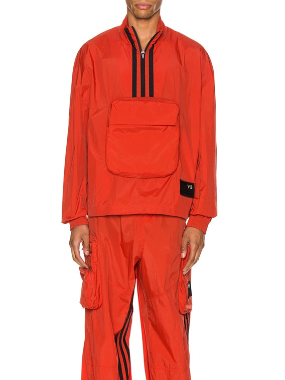Packable Half-Zip Shell Track Jacket in Icon Orange