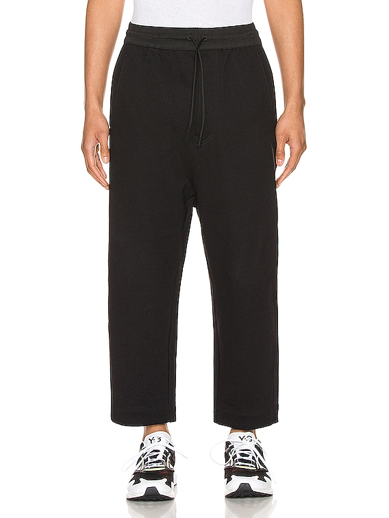 Terry Cropped Pants in Black