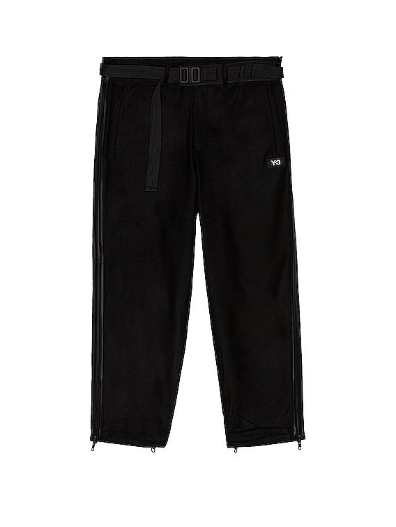 M Ch3 Wool Flannel Cropped Pants in Black