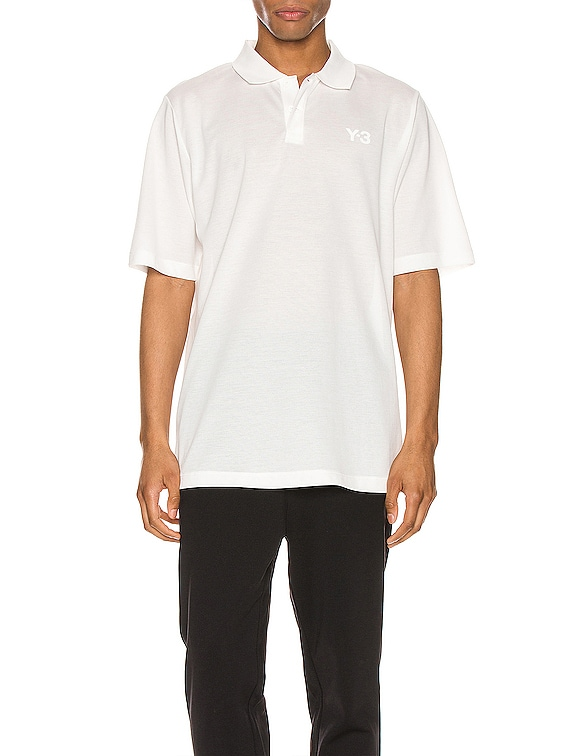 Pique Polo in Core White