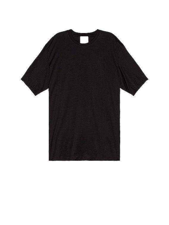 Back Logo Short Sleeve Tee in Black