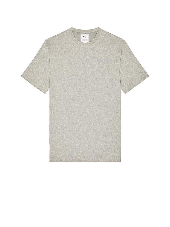 Chest Logo Short Sleeve Tee in Medium Grey Heather