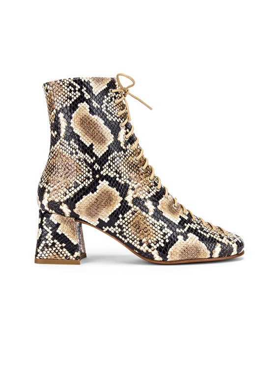 Becca Leather Boot in Snake Print