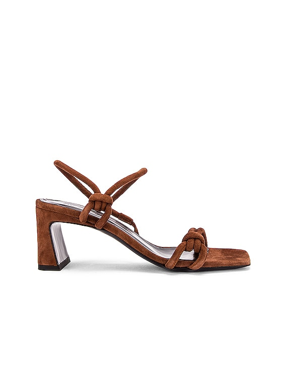 Charlie Suede Leather Sandal in Brown