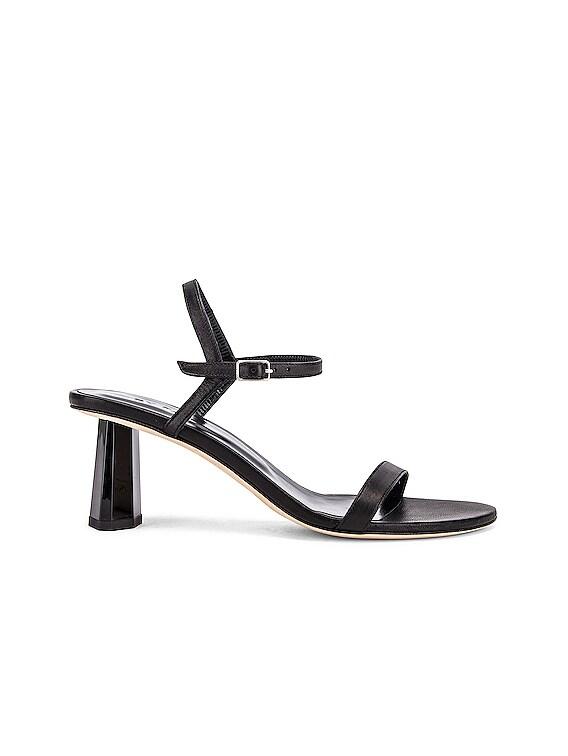 Magnolia Leather Sandal in Black