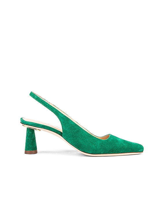 Diana Suede Leather Pump in Green