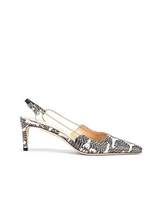 Gabriella Snake Print Leather Pump in Graphic