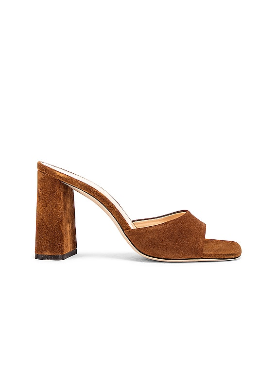 Juju Suede Leather Sandal in Brown