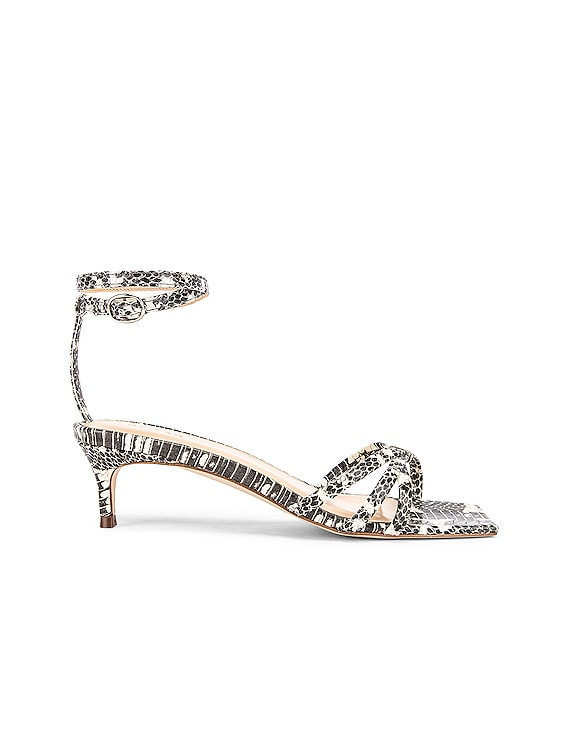 Kaia Snake Print Leather Sandal in Graphic
