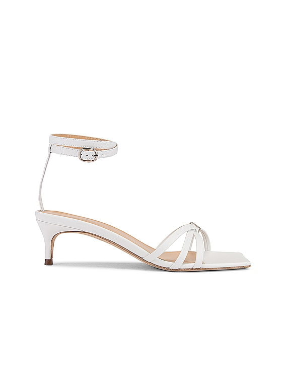 Kaia Leather Sandal in White