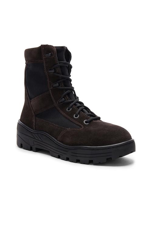 YEEZY Season 4 Suede Combat Boots in