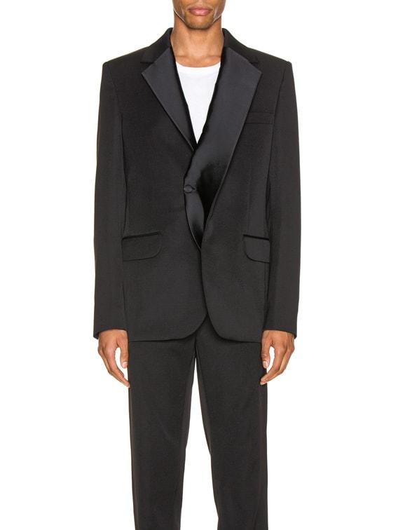 Double Lapel Tuxedo in Black