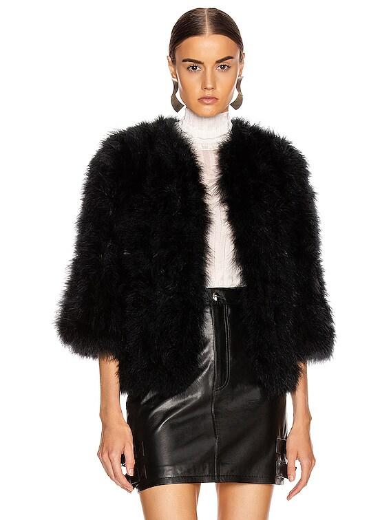 Feather Jacket in Noir