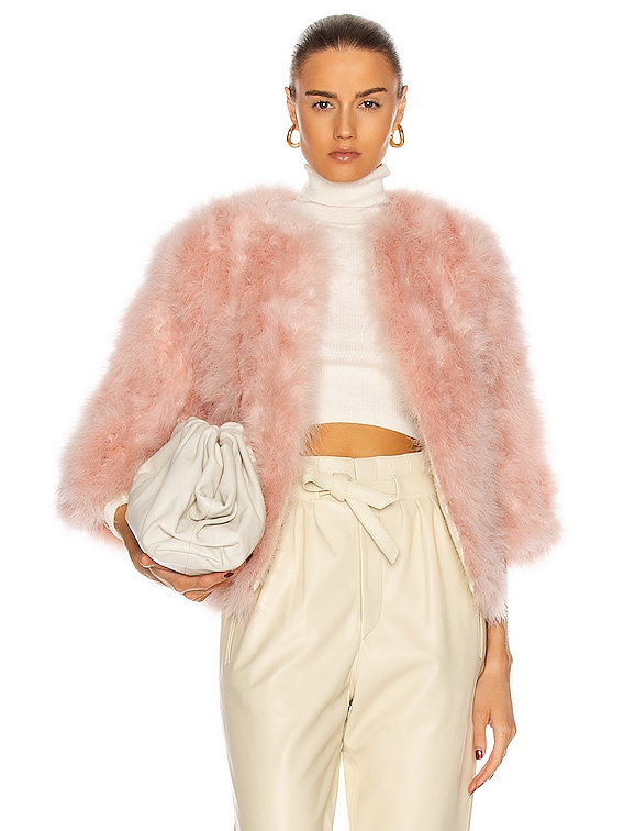 Feather Jacket in Candy