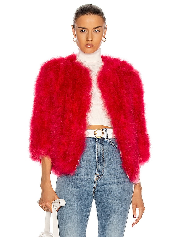 Feather Jacket in Glamorous