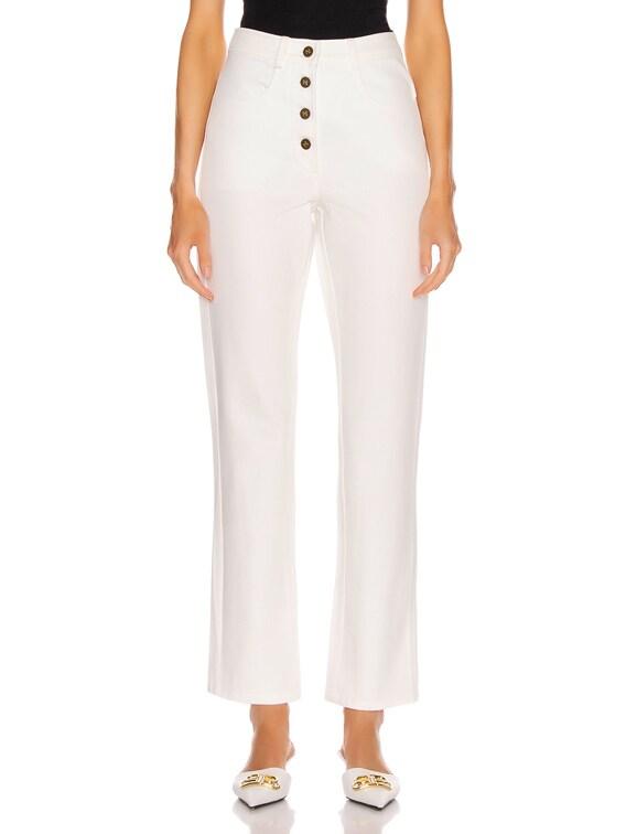 Cigarette Jean in White