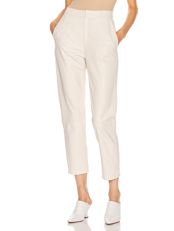Mom Leather Pant in White