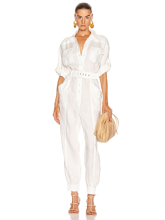 Super Eight Boilersuit in Ivory